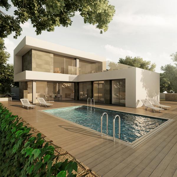 Villa moderna en benissa costa comprar y vender casa en calp benidorm altea moraira - Coste construccion piscina ...