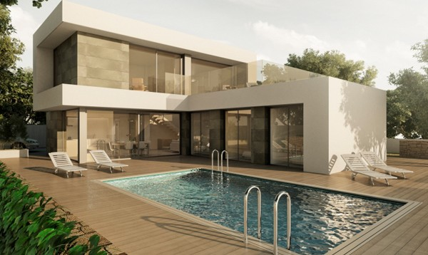 Villa en construcción de estilo moderno con piscina, Benissa Costa (B200170) (1)