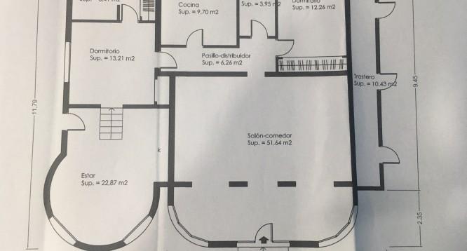 Plano Villa La Merced C en Calpe