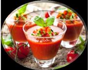 •Холодный гаспачо из помидоров