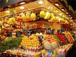 Цены на фрукты и овощи в Испании